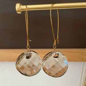 Anthropologie Smokey Quartz Earrings